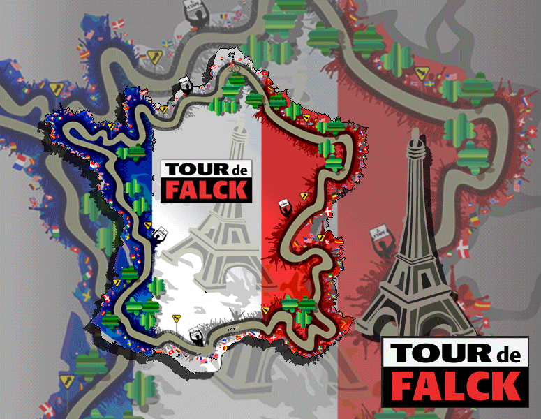 TOUR de FALCK - Design, illustration og animation til cykelspil